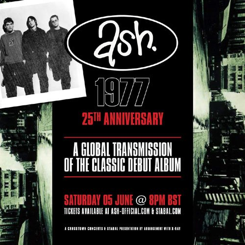Tickets are now on sale for our first ever global transmission on June 5th, playing our debut album 1977 in full to celebrate its 25th anniversary!
